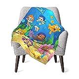 Baby Blanket Bu-bble G-uppies Throw Blanket Ultra-Soft Blankets for Newborn Girls Boys Toddler Infant Fleece Blanket for All Season Gift