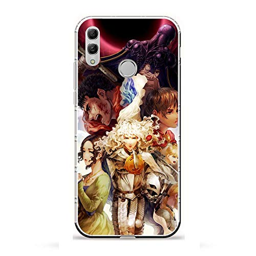 X-Art Transparent Case for Huawei P Smart 2019/Honor 10 Lite, Berserk-Guts Anime Cool 8 Fundas Slim Silicone Liquid Flexible Cover