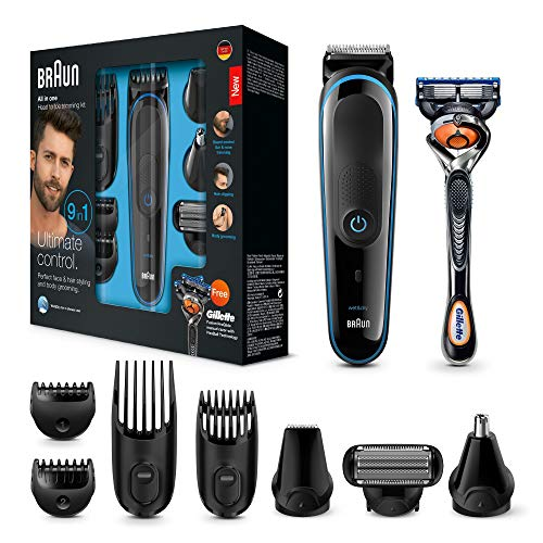 Braun 9-in-1 All-in-one Trimmer MGK3085, Beard Trimmer and Hair Clipper,...
