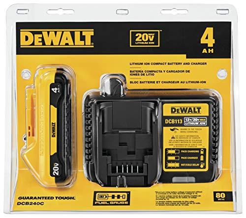 DEWALT 20V MAX Battery, Compact Starter Kit, 4.0-Ah (DCB240C)