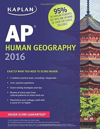 Kaplan AP Human Geography 2016 Kaplan Test Prep by Swanson Kelly 2015 08 04 Paperback product image