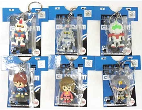 marca en liquidación de venta Gundam series strap Key Chain Ver.1 whole set of of of 6 (japan import)  últimos estilos