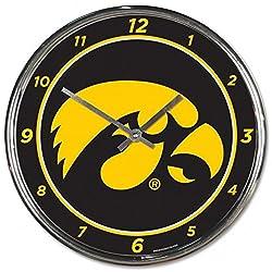 NCAA Iowa Hawkeyes WinCraft Official Chrome Clock
