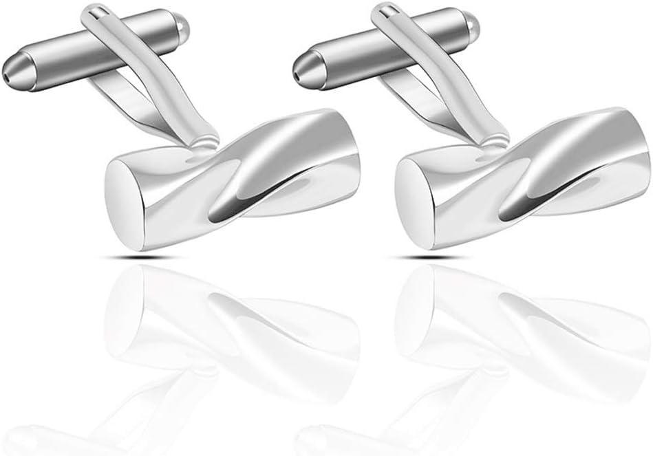 ZZABC Fashionable Metal Copper Cufflinks Exaggerated Threaded Cufflinks Men's Shirt Jewelry Wedding Gift Jewelry