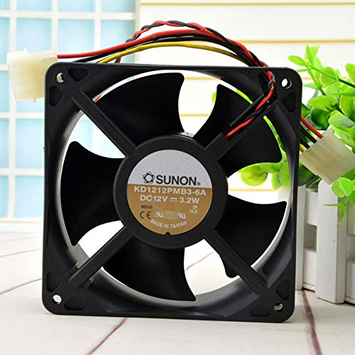 KD1212PMB3-6A DC12V 3.2W 12038 12CM computer chassis large air volume fan