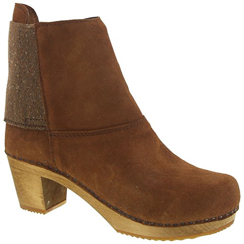 Sanita Women's Wood-Lilly Square Boot Ankle Bootie, Cognac, 39 EU/8/8.5 M US