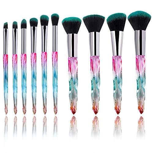 Pennelli da Trucco 10 Pezzi Professionali Set di Pennelli Cosmetici Diamante Makeup Brushes Strumento di Trucco Cosmetico
