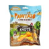 VEGECO Benevo - Snacks grandes nudos de batata modelo Pawtato (180g) (Naranja)