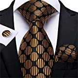 DJLHNCorbata a Cuadros Estilo 2020 para Hombre, Gemelos de Tacto, Corbata de Seda, Azul, Rosa, Rojo, Amarillo, 8 cm - N-7304
