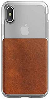 Nomad Clear Case for Apple iPhone X - Brown
