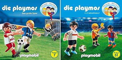 Die Playmos - Hörspiel Abenteuer - die Fußballfolgen (CD 7: das große Spiel + CD 51: im Fußballfieber) im Set - Deutsche Originalware [2 CDs]