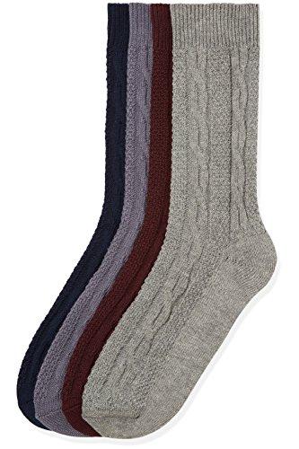 Marca Amazon - find., Calcetines para Hombre, Pack de 4, Multicolor (Multi Coloured), 44-47 EU, Label: 10-12 UK