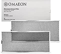 W10208631A, GE WB06X10596, AP5617368 Grease Filter Replacement for Many Whirlpool Microwaves filter 13 x 6 (Packed in Box) (2-Pack)