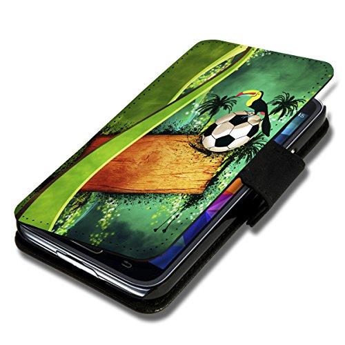 wicostar Book Style Flip Handy Tasche Hülle Schutz Hülle Schale Motiv Etui für LG L Fino - Flip 1A49 Design4