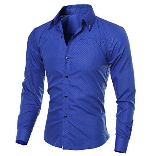 Alikey Bovenstuk met lange mouwen, geruit, voor mannen, modieus, bedrukt, casual, lange mouwen, slim overhemd, tommy blouse, overhemd, bloemen, heren, overhemd, geruit