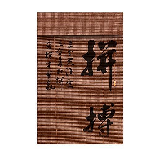 JIAYUAN rolgordijnen bamboe roman houten binnenkant roll up raam jaloezieën lichtfilter jaloezieën gegevensbescherming drape woonkamer zonwering gordijn drukontwerpen grootte aangepast