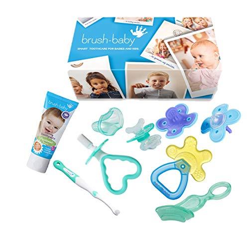 Brush-Baby Kit de survie pour dentition Bleu
