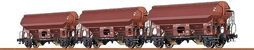 Brawa 49510 Gedeckte Güterwagen Tdgs 930 der DB, 3er-Set