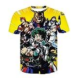 Aatensou My Hero Academia - Camiseta 3D Cool para niños con cuello redondo impreso, Cosplay, camiseta de manga corta para hombre y mujer (K6.120)