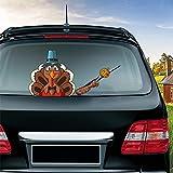 MIYSNEIRN Rear Window wiper Decal Thanksgiving turkey Waving Wiper Sticker 3D Funny Cartoon Vinyl Car Rear Windshield Wiper Sticker Rear Wiper Vehicle Tags for Thanksgiving Wiper Blade Decal