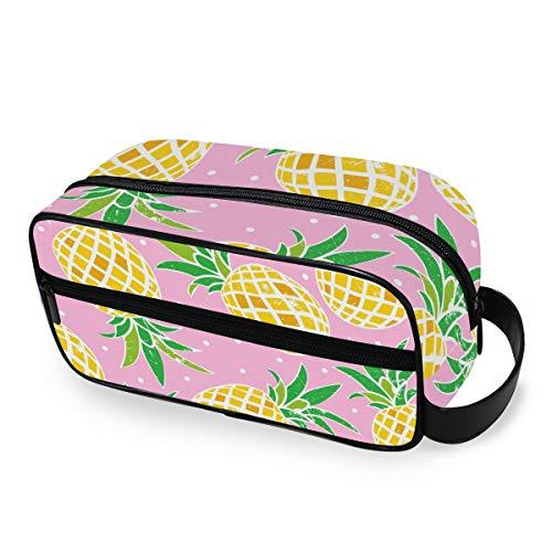 Gereedschappen cosmetische trekkoffer bewaren make-up tas reizen dames punten lief ananas patroon draagbare toilettas