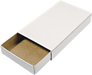 Rayher Hobby 8147000Cajas de cerillas (tamaño Grande, en Blanco, vacías, Color Blanco, 12Cajas de cartón para Manualidades y decoración, tamaño 11x 6,5x 2cm