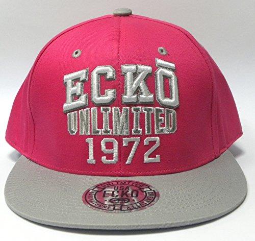 Ecko Unltd surélevé Rhino Logo, Vandal Crew Seven Deuce, Ecko 1972 Impression Flat Peak, Snap Dos Hip Hop Casquette de baseball - - Taille Unique