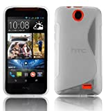 Cadorabo Case works with HTC Desire 310 in SEMI TRANSPARENT