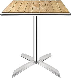 Boléro Table de bistro carrée en frêne avec couvercle rabattable 600 mm