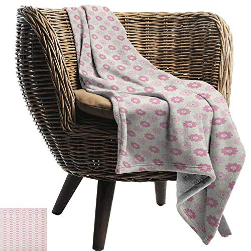 ZSUO Warm deken Geometrisch, bleke verticale lijnen in verschillende maten met stippen en ster vormen Reseda en amandel groen rood Cozy en duurzaam Fabric-Machine wasbaar