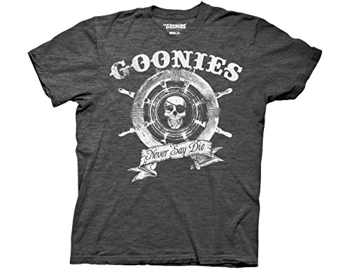 The Goonies Captain's Wheel Charcoal T-shirt - S to 3XL
