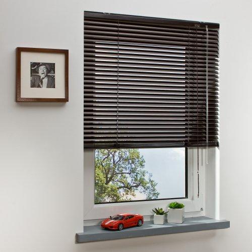 Aluminium-Jalousie Jalousette Fensterjalousie Alu | 140 x 175 cm | Mokka, Mocca