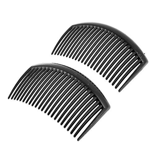 sourcingmap 2 Stücke Schwarz Kunststoff 20 Zähne Frisur Haarspange Kamm für Damen de DE de