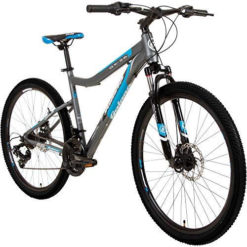 Galano GX-26 26 Zoll Damen/Jungen Mountainbike Hardtail MTB (grau/blau, 44cm)