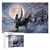 ワンピースゾロ 木製アニメジグソーパズル大人と子供たちへのプレゼント手作りジグソーパズル チャレンジファミリーゲーム 1000 PCS