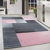 alfombra rosa y gris