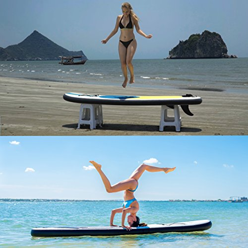 Product Image 8: 10' Inflatable Stand Up Paddle Board / Kayak And SUP! (6 Inches Thick, 32 Inch Wide Stance Width) |11-Piece Accessory Set That Includes Convertible Paddle, Kayak Seat, Travel Backpack, And More!