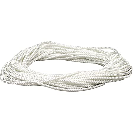 Anchors 3//8 x 50ft, White Crafts Multipurpose Rope for Commercial Applications Solid Braid Nylon Utility Rope