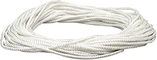 Lehigh NML48X 1/8-Inch by 48-Feet Diamond Braid Nylon Rope, White