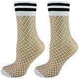 Mysocks 2 pares de calcetines de rejilla de tobillo blanco con banda