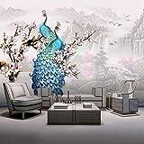 JFSZSD Fotomural Vinilo para Pared Pavo real de color 350CMx250CM Fotomural para Paredes | Mural| Decoración comedores, Salones, Habitaciones.