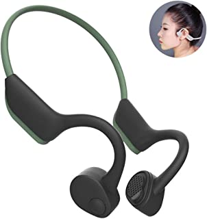 Lesgos Bone Conduction Headphones, BT 5.0 Wireless Open-Ear Wireless Sports Headsets With Mic, Noise Canceling, HD Stereo Sweatproof Earphone For Jogging Running Driving Cycling