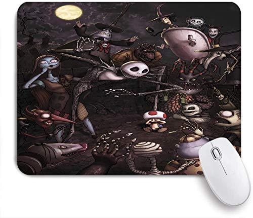 QINCO Gaming Mouse Pad Rutschfeste Gummibasis,Dark Gothic Style Puppe,für Computer Laptop Office Desk,240 x 200mm
