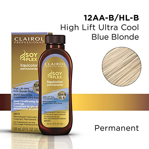 Clairol Permanent Liquicolor, 12aa High Lift Coolest Blonde, 2 oz.