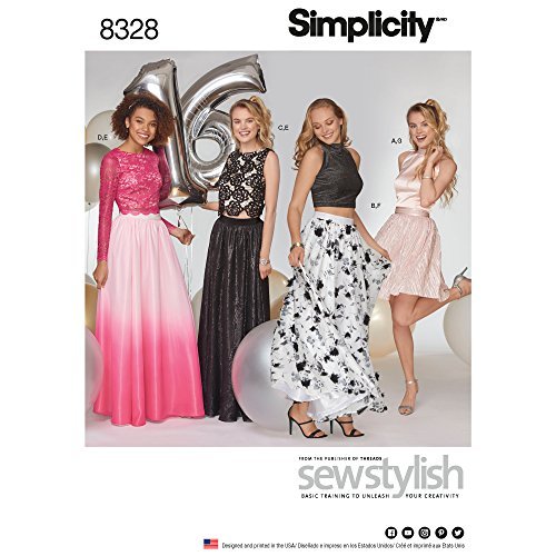 Simplicity Women's Special Occasion Tops and Skirts Sewing Patterns by Sew Stylish, Sizes 4-12
