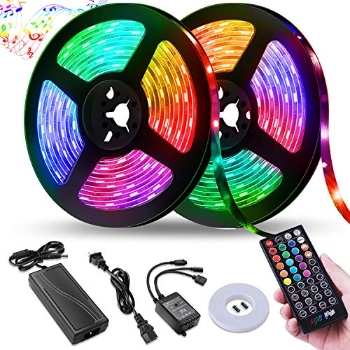 LED Strip Lights,NightScene 32.8FT LED Music Sync Color Changing Lights with...