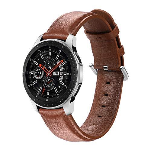 AISPORTS Correa de Reloj de Liberación Rápida de 22mm Compatible con Samsung Galaxy Watch Correa de Cuero de 46mm, Correa de Repuesto de Pulsera para Samsung Galaxy Watch 3 45mm/Watch 46mm/Gear S3