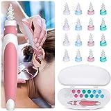 Ohrenreiniger Ohrenschmalz Entferner, Q Grips Ohrenreiniger mit 16 Ersatzköpfen, Sicher und Weich, 360 Grad Spirale, Geeignet für Kinder Jugendliche und Erwachsene