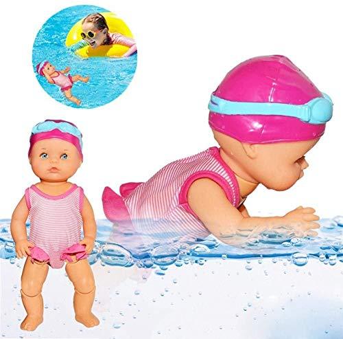 Schwimmpuppe,Born Baby Badepuppe Wasserbabypuppe Elektrisches Schwimmspielzeug Wasserdichtes Badewannenspielzeug Ich Kann Schwimmen Geborene Puppe Schwimmen,sichere Und Ungiftige Für Kinder Baby
