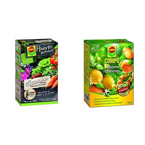 Compo Abono ecológico Natural con Guano para Todo Tipo de Plantas, 1 kg, 33 m, 22 X 14.2 X 4.7 Cm, 1240122011 +...